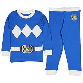 - 51yYLaOEKVL - Kids Mighty Morphin Power Rangers Costume Pajama Set
