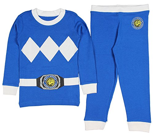 [Intimo Kids Mighty Morphin Power Rangers Costume Pajama Set (Blue, 8)] (Yellow Samurai Ranger Costume)