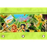 Disney Fairies Tinkerbell Zippered Pencil Case Pouch for 3 Ring Binder by Disney