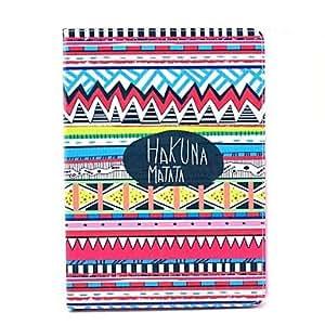 HC- Tribal Funda de cuero Alfombra Hakuna Matata Patrón PU con el soporte para Samsung Galaxy Note10.1 / P600 / P601