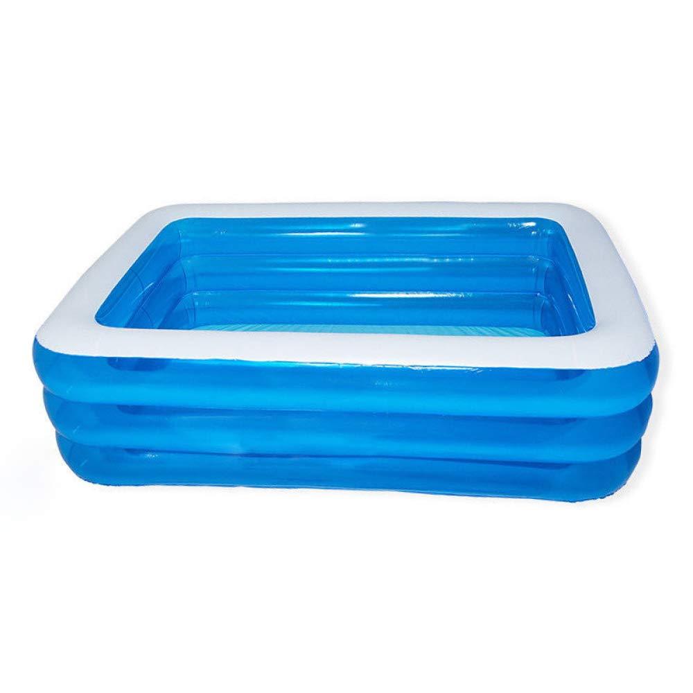 ZHKGANG Aufblasbares Schwimmbad Im Freien Garten Sitzgelegenheiten Pool Haus Verdickt Rechteckigen Pool Sommer, Blau-3layers-428  210  60cm Blau-3layers-18014260cm