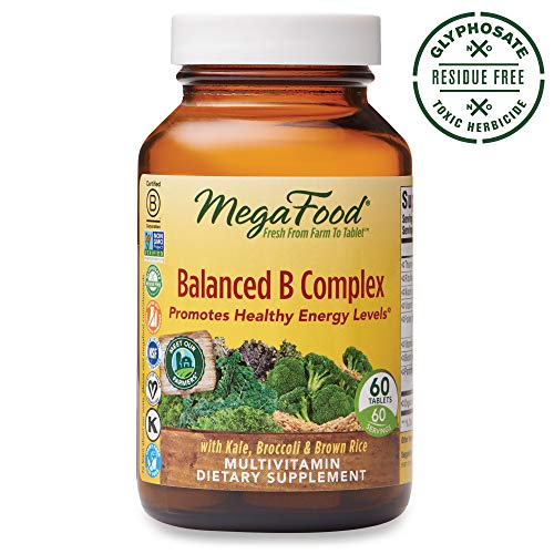Level Balanced - MegaFood, Balanced B Complex, Promotes Healthy Energy Levels, Multivitamin Dietary Supplement, Gluten Free, Vegan, 60 Tablets (60 Servings) (FFP)