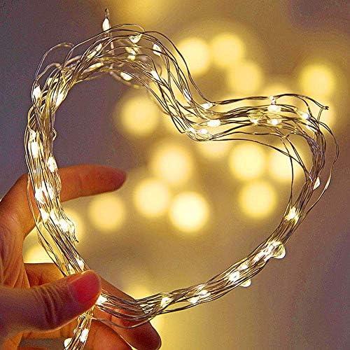 MLX LED Kupfer Stern Licht, Lampe DIY Home Party Dekoration, Weihnachten Dekoration, Sternenhimmel, Multi-Color, 3 Meter