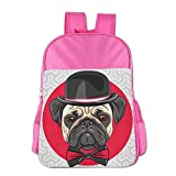 Elegant Mr.Pug Dog Students School Shoulder Backpacks Has Padded Adjustable Straps That Make It Comfortable To Carry. It Is A Lightweight Back Pack And Perfect For Everyday School And Casual Day Trips.You Kids Will Love It!