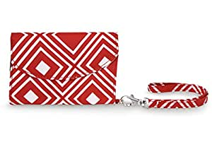 All For Color Red Geo Smart Phone Wristlet