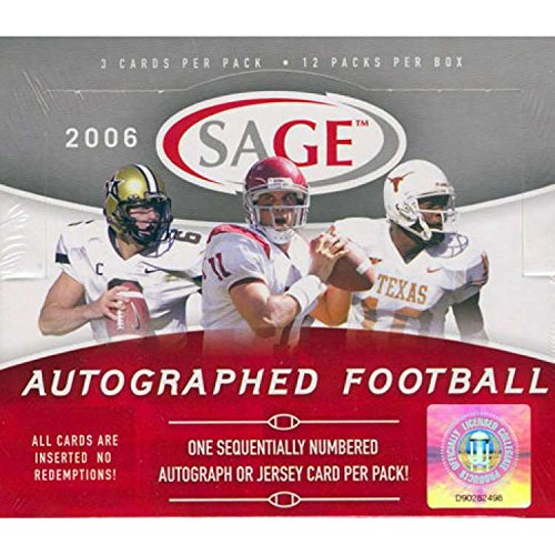 2006 Sage Autograph Football Cards Unopened Hobby box - Reggie Bush Rookie Year