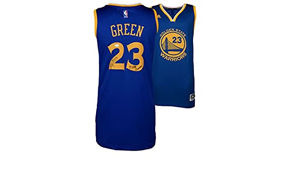3cefab97909 Draymond Green Golden State Warriors Autographed Blue Swingman Jersey with  15 NBA Champs Inscription - Witness - JSA Certified at Amazon s Sports ...