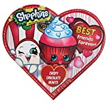 Shopkins Valentines Day Heart Gift Box with Chocolate Heart Candy, 2 oz (Red)