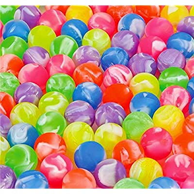 DISCOUNT PARTY AND NOVELTY 36 Marble superballs high Bounce Bouncy Balls 27 mm 1 inch Vending Machine Balls: Toys & Games