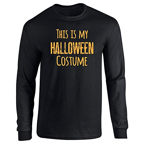 [This Is My Halloween Costume Black 3XL Long Sleeve T-Shirt by Pop Threads] (1980's Costume Party City)