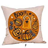 TAOtTAO Halloween Pillow cover, Halloween Pillow Cases Linen Sofa Pumpkin ghosts Cushion Cover Home Decor (F 45cm*45cm)