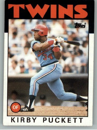1986 Topps #329 Kirby Puckett Minnesota Twins Baseball Card (Kirby Puckett Minnesota Twins Baseball)