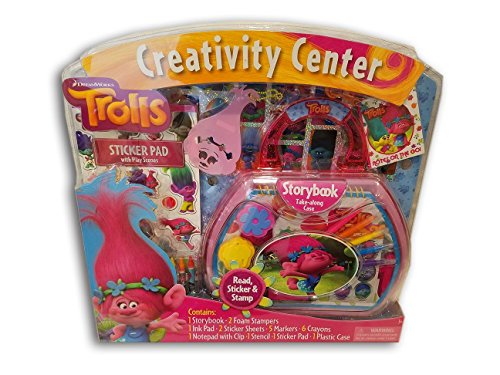 (Dreamworks Trolls Creativity Center - Read, Sticker & Stamp Art)