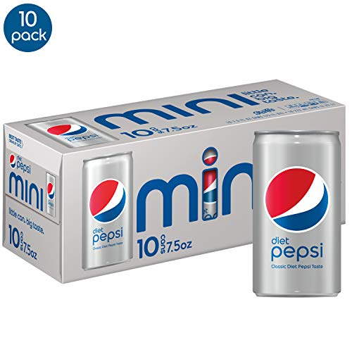 (Diet Pepsi Soda, 7.5 Ounce Mini Cans, 10 Pack)