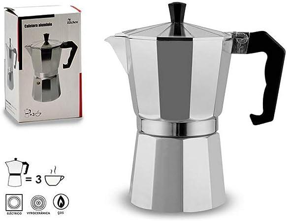 Ar Kitchen - Cafetera Italiana (Aluminio): Amazon.es: Hogar