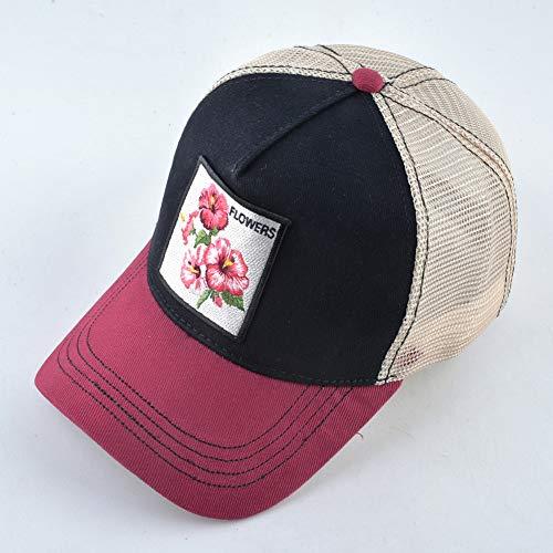 AAMOUSE Baseball Cap reathale Cap Women Spring Summer Mesh Snapack Trucker Hat for Men Emroidered Flower Hip Hop one Hats Visor Hats