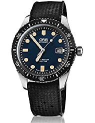 Oris Divers Sixty-Five Mens 42mm Blue Face Black Rubber Strap Automatic Swiss Watch 01 733 7720 4055-07 4 21 18