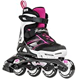 Rollerblade Girls Spitfire JR XTG 2016 Kids Skate, Black/Pink, Adjustable (5 to 8)