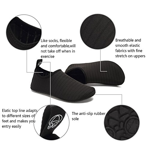 on Quick Yoga Shoes Aqua Socks Men Water for Black Slip CIOR Kids Dry Women Barefoot Bwzatnxq