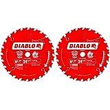 Freud D0624X Diablo 6-1/2-Inch 24-Tooth ATB Framing Saw Blade 5/8-Inch Arbor (2 Pack)