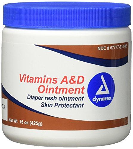 Dynarex Vitamins A & D Ointment, 15 oz Jar