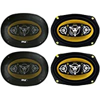 4) NEW PYLE PLG69.8 6x9 8-WAY 1000w Car Audio Stereo Coaxial Speakers PLG698