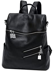 Ali Victory Classy Real Genuine Leather Backpacks for Women Casual Daypack