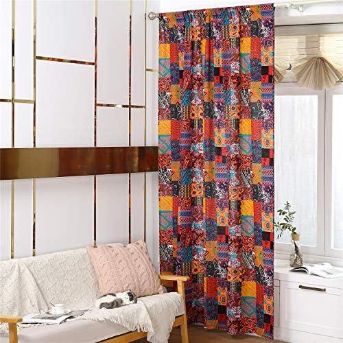 YOU SA 55''Wx102''L Rod Pocket Curtain Panel Pair Farmhouse Curtains Bohemian Curtains Bedroom Boho Curtain Drapes Set of 2