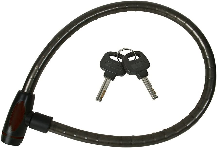 Silverline heavyduty bicycle cable lock 16 mm dia 950mm