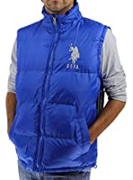 U.S. Polo Assn. Men's Basic Puffer Vest with Large Pony Logo, China Blue