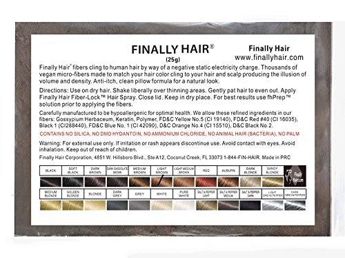 Hair Building Fibers Light Brown 25 Grams Refill Your Existing Bottle. Highest Grade Fiber by Finally ()