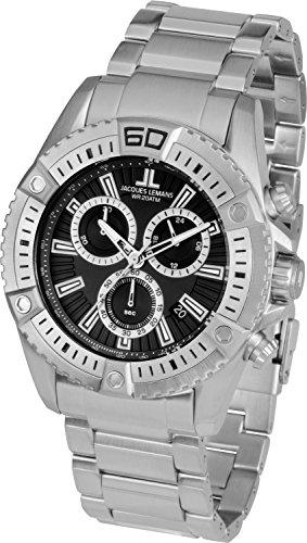 Jacques Lemans Liverpool Professional 1-1805G 46mm Steel Bracelet & Case Mineral Men's Watch