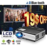 EUG Home Wireless Android Movie Projectors Home Cinema Theater HD 1080P 720P Support