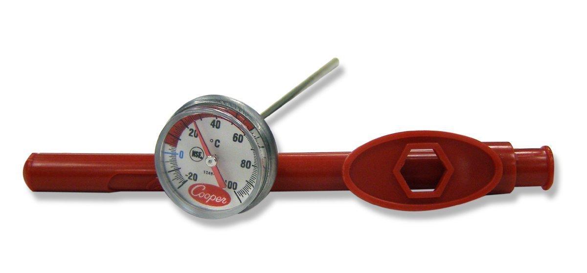 Cooper-Atkins 1246 - 02 C-1 pulgada, prueba termómetro de bolsillo con funda de ajuste, NSF Certificado, -20/100 °C Rango de temperatura: Amazon.es: Amazon. ...