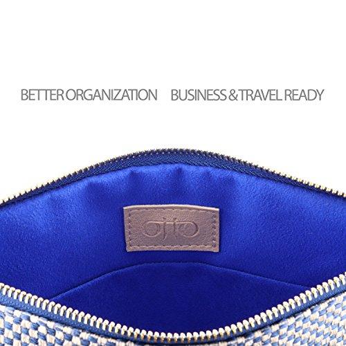 pour Très Damier Otto et monnaie de Point Femme carte Élégante Légère Fine Porte Bleu porte Pochette 568w6xafq