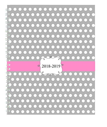 Doolittle Weekly Appointment Book - House of Doolittle 2018 - 2019 Weekly and Monthly Planner, Academic, Dots, 7 x 9 Inches, August - July (HOD29593-19)