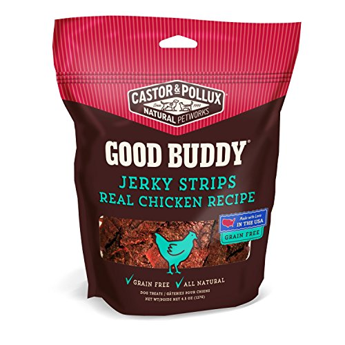 Good Buddy Jerky Strips Real Chicken Recipe, 4.5 - Treats Chicken Dog Good