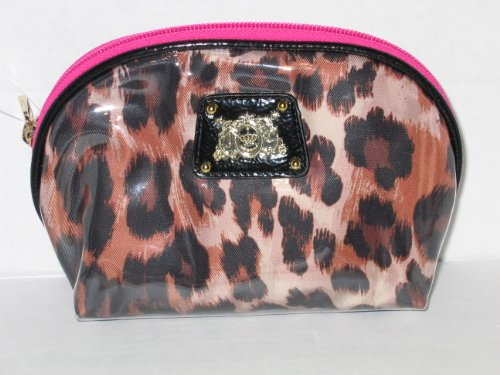 Juicy Couture Zippered Makeup Cosmetic Bag Leopard Pink Small Size (Juicy Couture Makeup Bags)