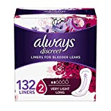 Always Discreet, Incontinence Liners, Very Light, Long Length, 44 Count - Pack of 3 (132 Total Count) (2 Case (368 Count))