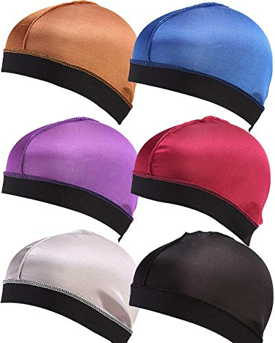 YI HENG MEI Mens 6 Pack All Kinds of Silky Velvet 360,540,720 Waves Motorcycle Biker Durag (20A-Waves ()