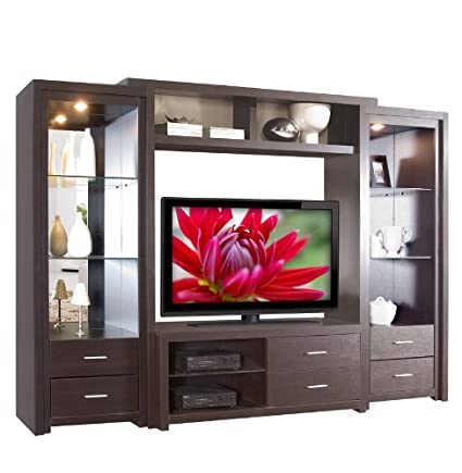 Amazon.com: Savoy Wall Unit - Big Glass Shelves: Kitchen & Dining
