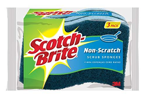 Scotch-Brite Non-Scratch Scrub Sponge, Great For Nonstick Cookware, 3-Sponges/Pk, 8-Packs (24 Sponges Total)