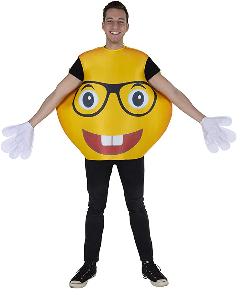Dress Up America Smiley Glasses Emoji Costume (Adults) Disfraces ...