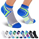 NEWZILL Low Cut Compression Socks - Unisex Running Socks with Embedded Frequency Technology for Heel, Ankle & Arch Support