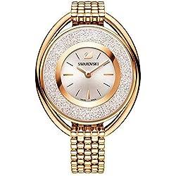 Swarovski Crystalline Oval Rose Gold Tone Bracelet Watch 5200341