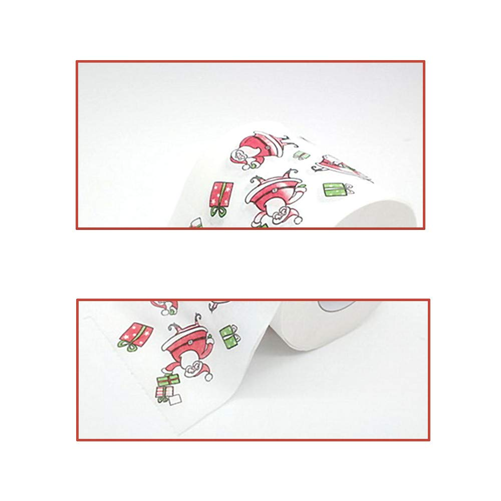 Sinwo Christmas Pattern Roll Paper Print Interesting Toilet Paper Table Kitchen Paper Christmas Decor (A) by Sinwo (Image #4)