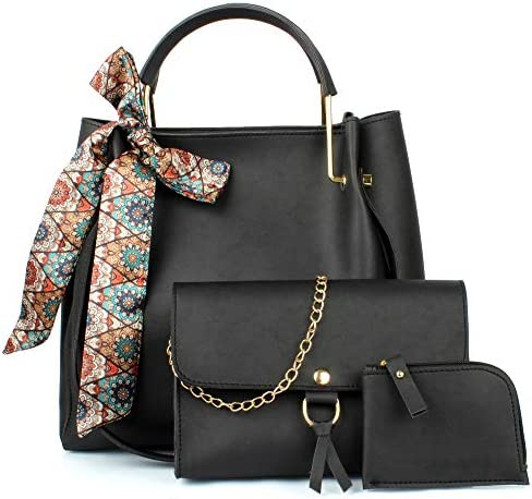 Mammon Women's Handbag (Set of 3, Black)