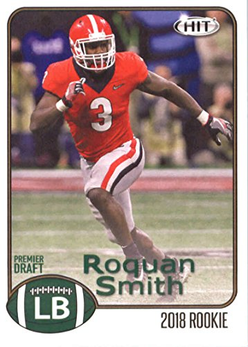 2018 SAGE Hit Premier Draft #76 Roquan Smith Georgia Bulldogs RC Rookie Football Card