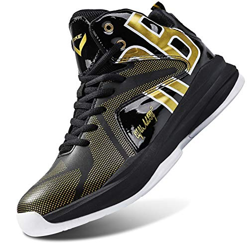 WETIKE Girls Basketball Shoes Equality Signature Comfortable Boys Shoes Non-Slip High Tops for Boys Durable Boys' Basketball Shoes Breathable Shoes for Boys Girls Sneakers Tennis Shoes Size 7 Black (Hi Top Tennis Shoes)