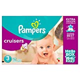 Pampers Cruisers Diapers Size 3, Mega Box, 152 Count